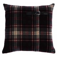 KILT CUSHION TWIGGY BORDEAUX