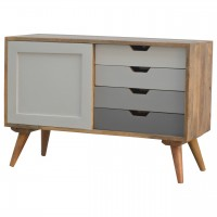 Nordic Sliding Cabinet with 4 Drawers