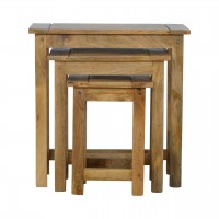 Solid Wood Set of 3 Nesting Tables