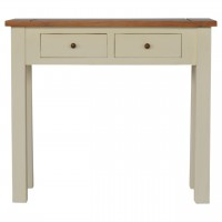 Country Two Tone Console Table