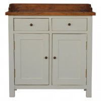 Country Two Tone Kitchen Cabinet