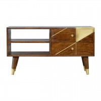 Gold Geometric Chestnut Media Unit