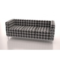 Corbusier 3 Seater (Dog Tooth)
